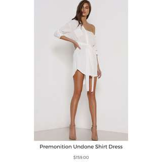PREMONTION Undone Shirt Dress XS 6 8