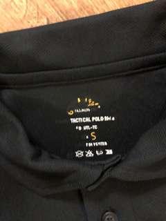 Men's tactical black polo shirt