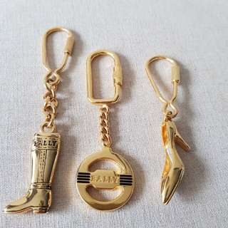 Vintage Bally Gold Plated Key Chains