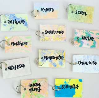 Customisable keychain name keychains wedding Gifts Tag Door Gift Personalised Customised Chain Kids Birthday Goodie Colleague Students Colleagues Teacher Farewell Calligraphy Classmates Party Student Friend Friends Classmate present presents key cca