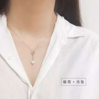 Buy 3 get 1 free 💋pearl necklace S925 sliver anti-allergy  💋純銀簡約珍珠火柴棒系列頸鍊 防敏感