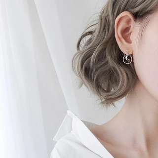 Buy 3 get 1 free 💋moon shape earrings S925 sliver anti-allergy  💋純銀簡約月亮圓圈系列耳環 防敏感