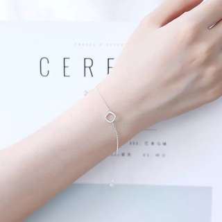 Buy 3 get 1 free💋 square bracelet S925 sliver anti-allergy  💋純銀僂空方塊系列手鍊 防敏感