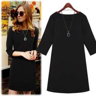 3/4 Sleeve Black Dress (Brand New)