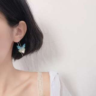 Buy 3 get 1 free💋 Butterfly Earrings S925 sliver anti-allergy  💋純銀蝴蝶精靈森林系列耳環 防敏感