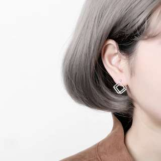 Buy 3 get 1 free💋 Geometric cube Earrings S925 sliver anti-allergy  💋純銀几何正方体耳環 防敏感
