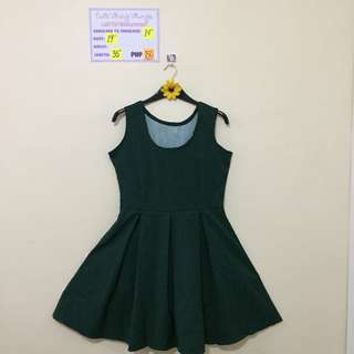 Brand New Green Dainty Print Dress w/ Pleated Skirt