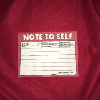 Note To Self — Naughty Notes