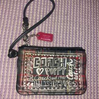 Coach poppy wallet wristlet