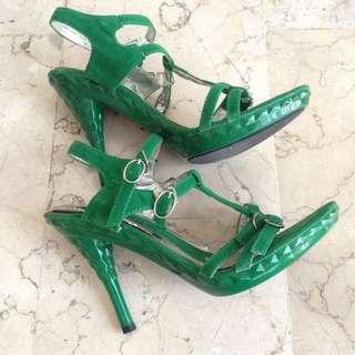 Mario D' Boro Green High Heels Shoes