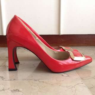 Mario D' Boro Orange High Heels Shoes