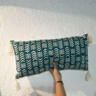 Hand Woven Decorative Pillow w/ tassels