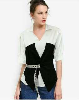 Off white shirt (bisa jadikan 2model)