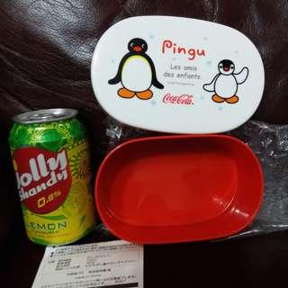Pingu pinga 日本絕版2007年CocaCola出的膠盒(非賣品,罕有)