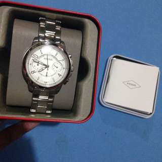 Authentic FOSSIL silver watch