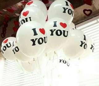 I 💗 you led balloons
