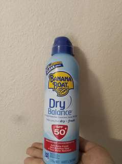 Banana Boat Dry Balance Sunscreen