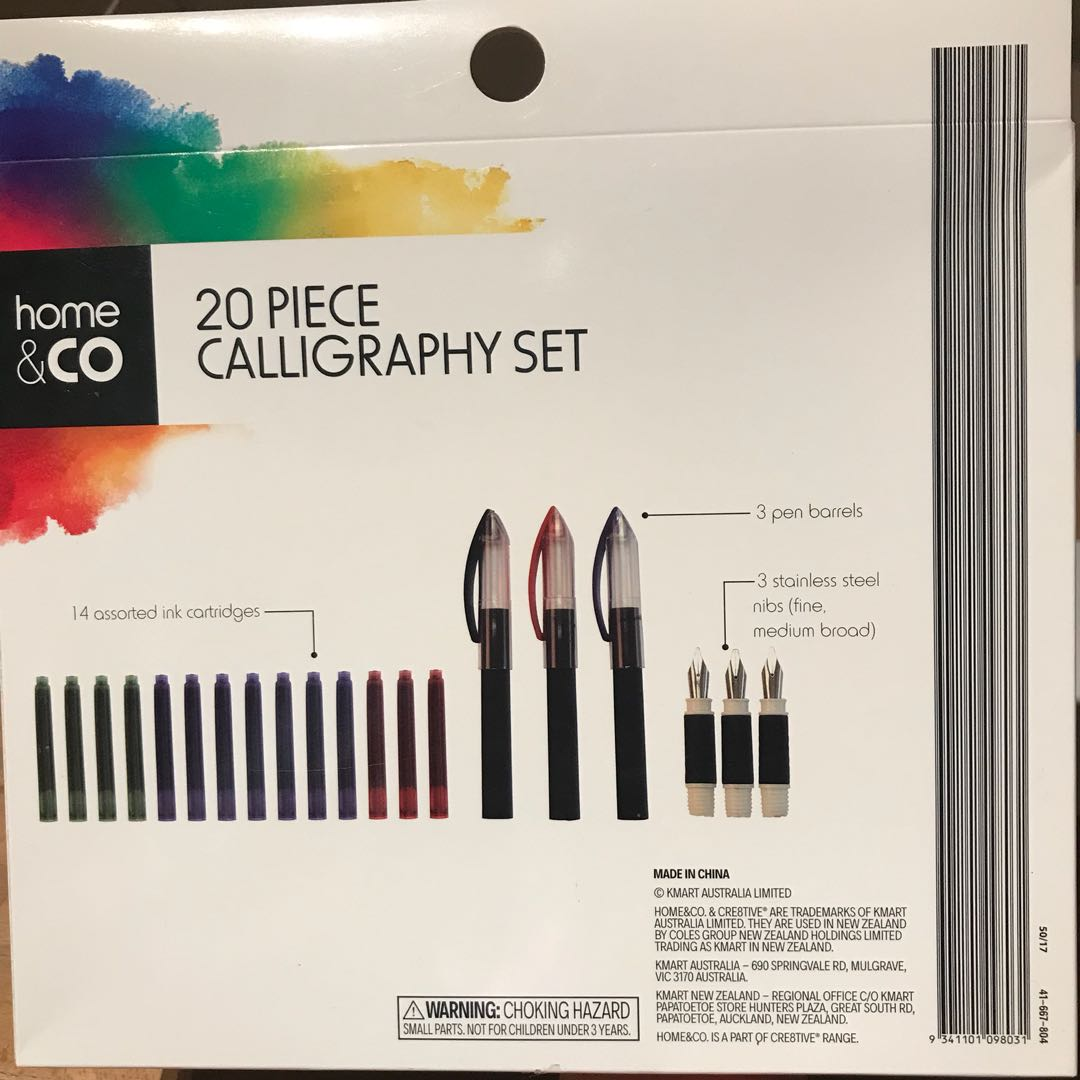 20 Piece Calligraphy Set Design Craft Craft Supplies Tools On