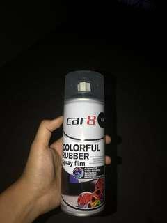 Car 8 rubber spray paint (Matte Black) x8