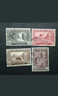 Malaya 1961 2nd Scenes Kelantan Loose Set Up To 10c - 4v Used Malaya Stamps