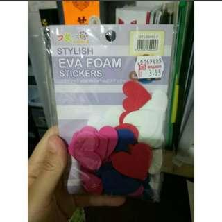 3D heart Eva foam sticker
