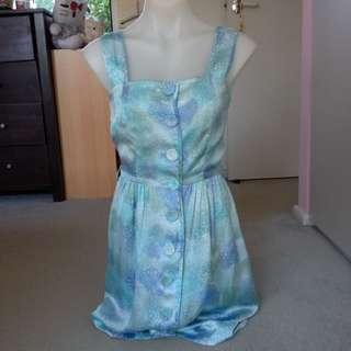 Icy Blue Print Dress