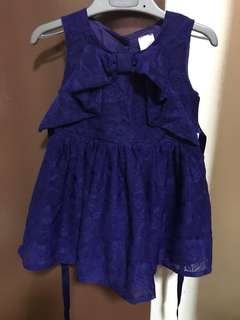 Anakku Blue Lace Dress