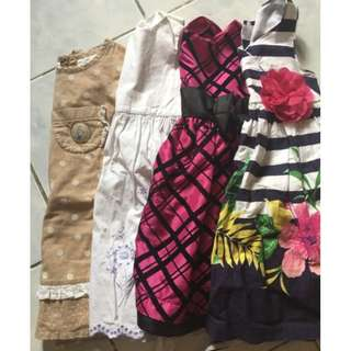 Take all 4pcs Imported Dress 2T