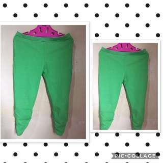 Girls Green Leggins