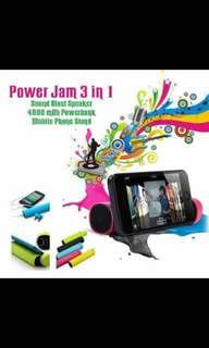 POWER JAM 3 in 1 /Powerbank/Speaker/Cp stand