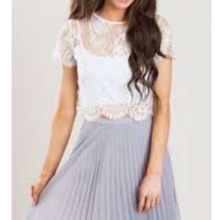 $5 SALE: Cache Cache Floral Lace Boxy Top (do you see this marked sold? no. then OBVIOUSLY ITS AVAILABLE)