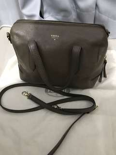 PRELOVED FOSSIL SATCHEL SMALL - DARKDUNE excelent quality