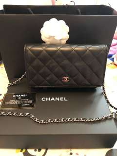 100% real Chanel wallet on chain bag
