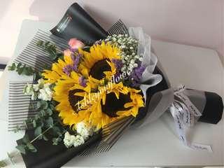 Flower Bouquet Sunflower Rose Surprise