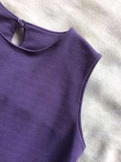 Long Purple Sleeveless Top
