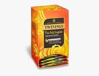 Twinings THE FULL ENGLISH - 15 PYRAMID BAGS (INDIVIDUALLY WRAPPED) 川寧英國早餐紅茶 15個茶包裝(獨立包裝)