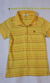 Abercrombie Yellow Stripes Polo