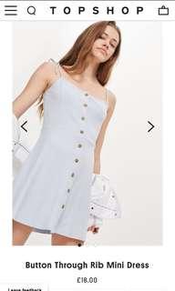 TOPSHOP RIBBED DRESS