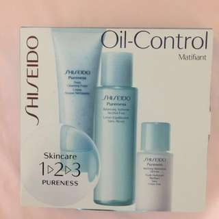 Shiseido 3 steps pureness Oil Control skincare gift set