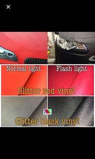 Matte glitter vinyl sticker