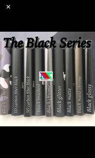 Black series vinyl sticker