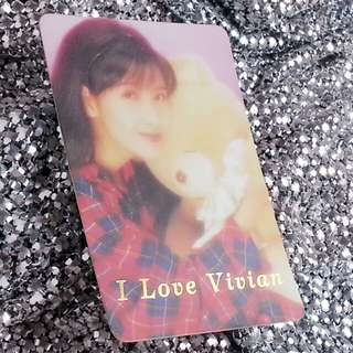 周慧敏 Vivian 絕版 燙金字 燙字咭 YesCard Yes咭 Yes卡 I Love Vivian 27AG