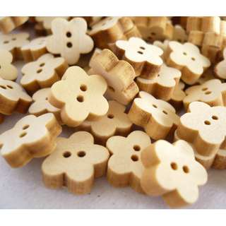 WB10127 - 12mm Mini Star Shaped Wooden Buttons, Wood Buttons (10 pieces)  #craft