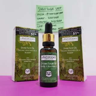 ANTIPODES Divine Face Oil Avocado Oil & Rosehip (30ml)