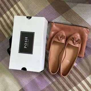 Posh Pocket Shoes Anelle Saffron