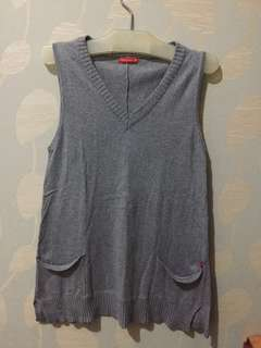 Gray Dress Bahan Sweater