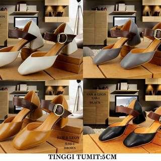 New...!!! #88~1 #Sam&Leon Shoes Original Tinggi Tumit:5cm  Warna: ~Grey ~Brown ~Black ~White.  Uk:36~40  Uk Insole: 36~23cm 37~23,5cm 38~24cm 39~24,5cm 40~25cm.