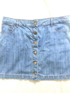 Forever 21 Plus Size Denim Skirt