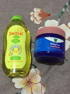 Vicks Baby Rub + Free Zwitsal Baby Cologne