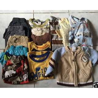 Take all 14pcs assorted boy clothes 6-24 months
